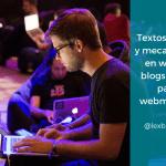 Textos legales y mecanismos en webs y blogs – Guía para webmasters - LEXblogger