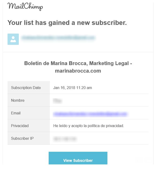 El consentimiento de tus suscriptores - LEXblogger