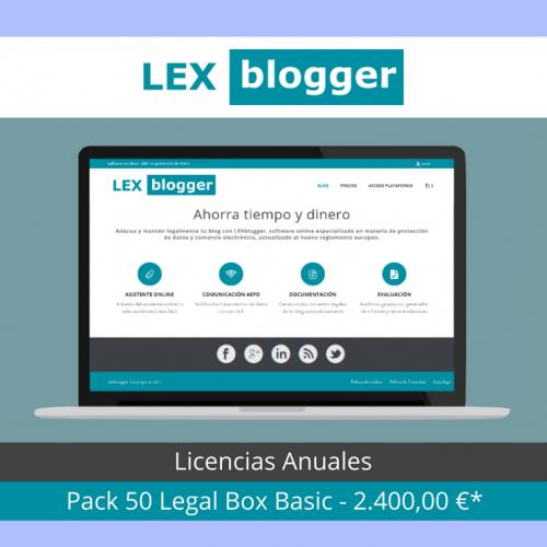 Pack 50 licencias Legal Box Basic - LEXblogger