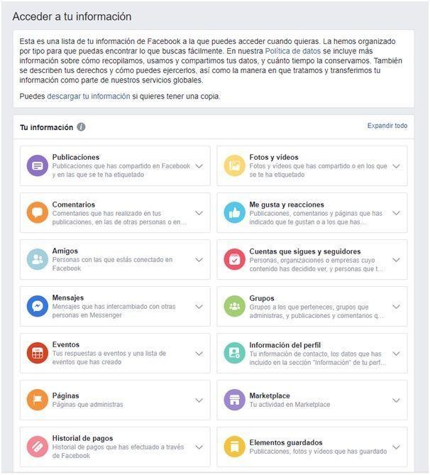 Cómo podemos acceder a la información que facebook almacena sobre nosotros y administrar nuestra propia información - LEXblogger