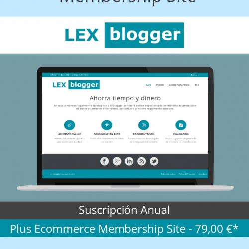 Plus Ecommerce Membership Site - LEXblogger